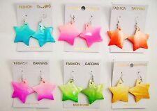 Wholesale lot 6 pcs shell drop/dangle colorful fashion earring kko-2