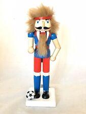 New Football Soccer Player Wooden Nutcracker Christmas Decor Whimsical Multi
