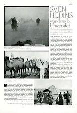 Sven Hedin Expedition in China Bericht 1931 2 XL Seiten 7 Abbildungen Dr. Lang