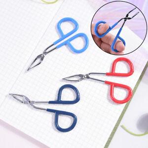 Scissors Flat Tip Eyebrow Tweezers Clamp Clipper Eyebrow Removal Makeup Too SW