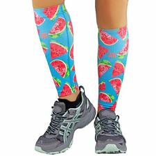 Zensah Leg Sleeves, Shin Splint Running Compression Calf-Watermelon (Pair)- L/XL