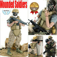 """New 12"""" 1/6 NB03 Military Army Combat Wounded Soldier Action Figure Model Toy"""