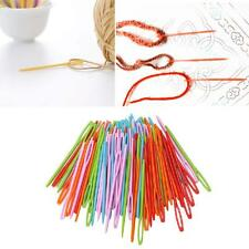 100Pcs Children Colorful Plastic DIY 7cm Needles Tapestry Sewing Wool Yarn Tools