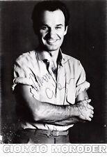 GIORGIO MORODER Inventor of Disco signed photo, 1985