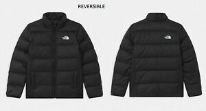 THE NORTHFACE REVERSIBLE ANDES UNISEX BOYS GIRLS DOWN JACKET BLACK XS (6) 5-6Y