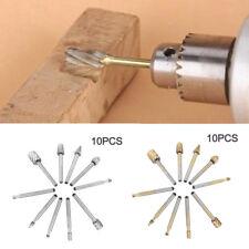 10PCS/Set HSS Titanium Dremel Routing Wood Rotary Milling File Cutter Kit Tool