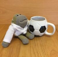 PG Tips Football Mug With PG Tips Monkey Plush In Dressing Gown Robe