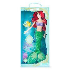 "Disney Store Deluxe Singing Ariel Doll The Little Mermaid 17"" BNIB Flounder"