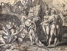 Maerten  DE VOS  Johannes SADELER La résurrection du christ Jésus  burin XVIeme