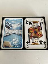 Vintage Playing Cards Plastic In Box Swimming Theme