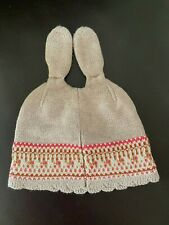 NEXT 3-6 MONTHS BABY RABBIT EARS Beanie FULLY LINED 100% COTTON NORDIC