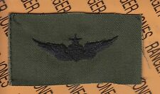 US Army Senior Pilot Aviation Flight OD Green Black BDU badge cloth patch