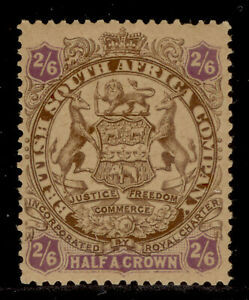 RHODESIA QV SG48, 2s 6d brown and purple/yellow, NH MINT. Cat £90.