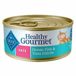 Five 5.5 ounce Cans Blue Buffalo Healthy Gourmet Ocean Fish & Tuna Pate