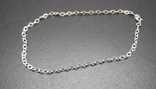 "Anklet Solid Sterling Silver .925 Fine Soldered Link 10"" Length New"