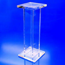 "Tall Acrylic Pedestal, 9 x 9 x 30"" High"
