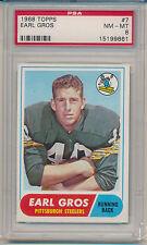 1968 Topps Football Earl Gros (#07) PSA8 PSA
