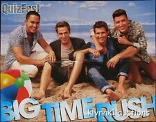 Big Time Rush 4 POSTERS Magazine Centerfolds Lot 3004A Justin Bieber on back