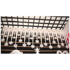 2X Christmas White Snowflake Ice Strip Xmas Decoration Ornament Festival Party M
