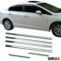 For Honda Civic ix 2012-2015 Chrome Window Overlay Trim Sill Cover 6 Pcs S.Steel