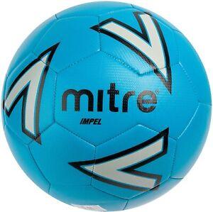 MITRE IMPEL TRAINING FOOTBALL Hard wearing 30 panel ball Size5 Blue/Silver/black