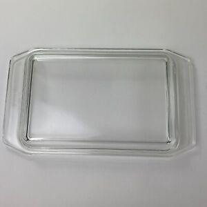 "Vintage Pyrex Space Saver Glass Lid 550C 32 11.5"" x 6.75"""