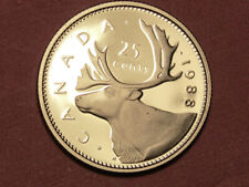1988 Canada 25 cents proof   (lower your cost with combined shipping)