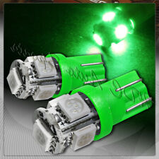2x 5 SMD LED T10 Wedge Interior Instrument Panel Gauge Replacement Bulbs - Green