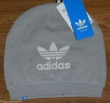 *ADIDAS ORIGINALS* MEN'S BEANIE HAT Trefoil Logo Winter Snow Ski Skull Cap GRAY