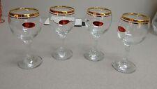 4 Valencia Wine Glasses
