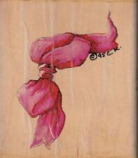 """tie one on stampressions Wood Mounted Rubber Stamp 2 1/2 x 3""""  Free Shipping"""