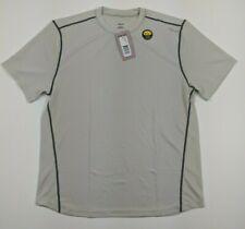 Hind Mens Transit Short Sleeve Athletic Shirt Uv Protection Light Grey Sz Large