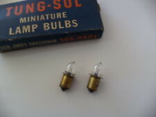 BOX OF 2 TUNG-SOL PR-2 FLASH LIGHT BULBS,2.38 Volts,1.19 Watts,0.5 Amps, P13.5s