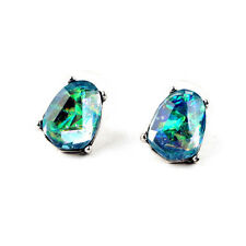 Mist Stud Earrings Radiant Blue + Antique Silver Brand Designer Opal Earrings