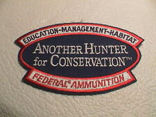 FEDERAL AMMUNITION ANOTHER HUNTER FOR CONSERVATION TRAP GUN HUNTING PATCH NEW