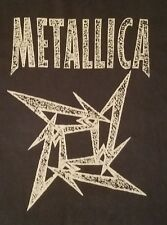 METALLICA NINJA STAR BLACK T-SHIRT 100% COMBED COTTON MEN'S XL EUC
