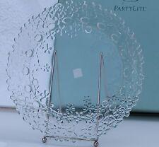 Party Lite Glass Hydrangea Pillar Tray