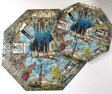 Springbok Octagon New York City Nyc Vtg 1960s Jigsaw Puzzle Missing One Piece