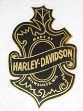 "HARLEY DAVIDSON VINTAGE OAK LEAF LG WINDOW DECAL 6.25"" X 4.25"" (INSIDE) NEW"
