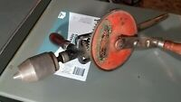 Vintage Goodell Pratt No. 490 Bench Hand Crank Drill Press Wood Metal Antique