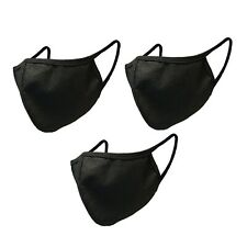 3 PCS FACE MASKS BLACK FASHION WASHABLE BREATHABLE UNISEX MASK US SELLER