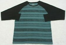 No Boundaries Thermal Shirt Long Sleeve XL Long Sleeve Cotton Poly Blue & Black