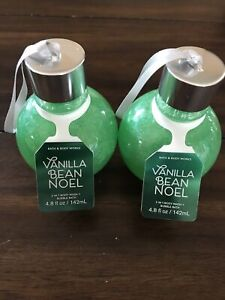 Vanilla Bean Noel NEW Body Wash Bubble Bath Ornament Bath & Body Works Lot Of 2