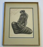 ROBERTA GONZALEZ DRAWING ABSTRACT CUBISM EXPRESSIONISM FRANCE MODERNIST RARE
