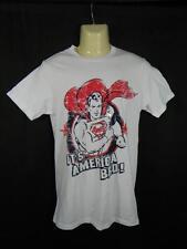 "New Mens Small SUPERMAN T Shirt 36"" Chest ITS AMERICA BRO Patriotic vtg look a55"