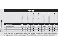 Carbide Bur Fg 2 Surgical Lenght Round 10 Burs