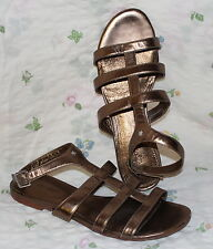 FLIP FLOP Leder Damen Sandalen 39 GOLD Schuhe rosegold leather sandals UK6