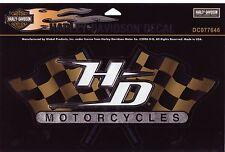 Harley Davidson Pegatina Sticker modelo racing Flags 25,5 cm x 12,5 cm
