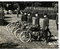 Winnipeg Police With Indian Motorcycles 1918 Five Indian Motorcycles Canada LOOK