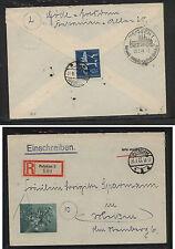 Germany semi postal stamp on registered cachet cover 1944 Sss0402